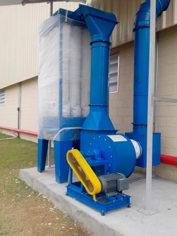 Exaustor centrifugo industrial radial