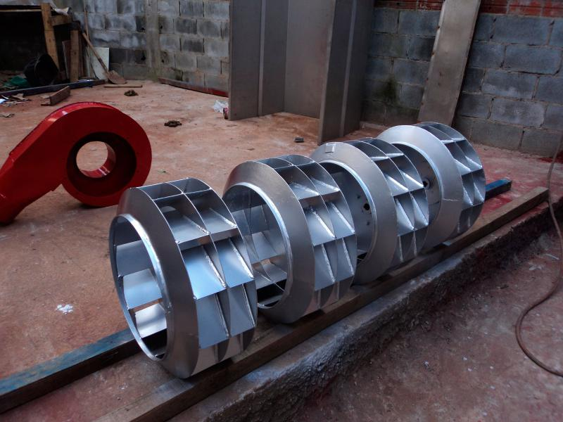 Rotor exaustor axial